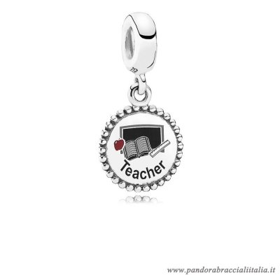 Rivenditori Pandora Teacher Dangle Charm Mixed Enamel