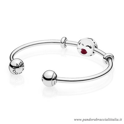 Rivenditori Pandora Cute Bacio Open Bangle Regalo