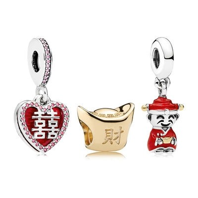 Rivenditori Pandora Happiness Fortune And Luck Charm Pack